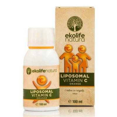Liposomal Vitamin C 500mg 100ml pomeranč (Lipozomální vitamín C)
