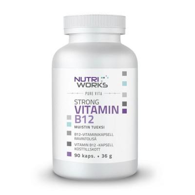 Strong Vitamin B12 90 kapslí (Silný vitamín B12)