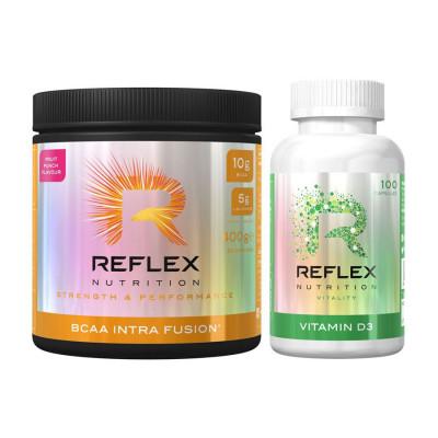 BCAA Intra Fusion® 400g ovocná směs + Vitamin D3 100 kapslí ZDARMA