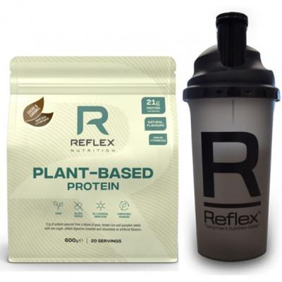 Plant Based Protein 600g cacao and caramel + Šejkr 500ml ZDARMA