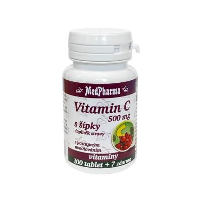 MedPharma Vitamín C 500 mg s šípky 107 tablet