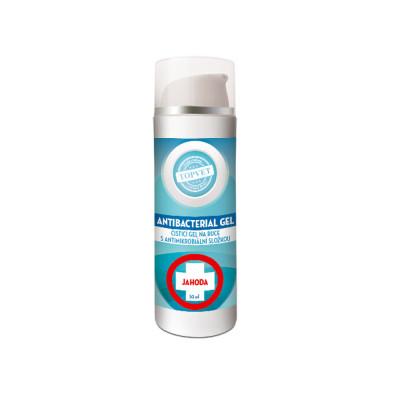 Topvet Antibakteriální gel na ruce - Jahoda 50 ml