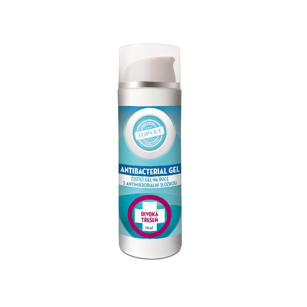 Topvet Antibakteriální gel na ruce - Divoká třešeň 50 ml