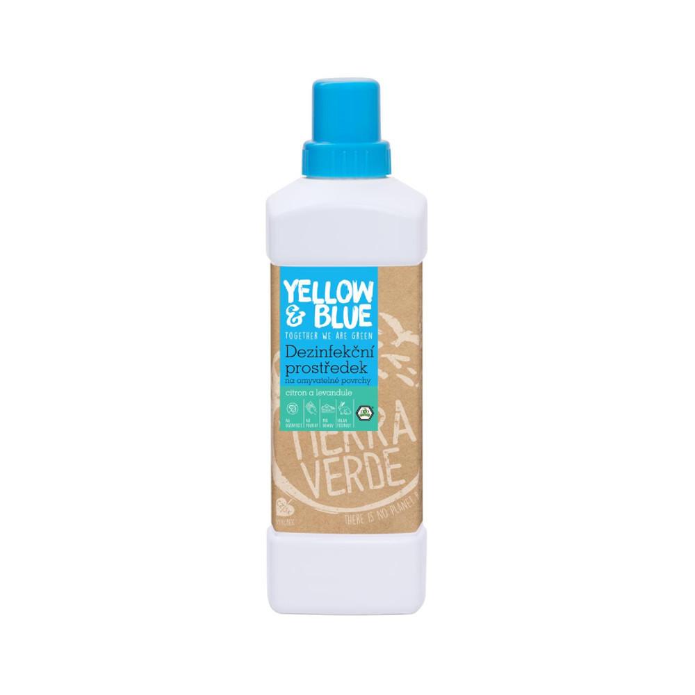 Yellow & Blue Dezinfekční prostředek na omyvatelné povrchy s citronovou a levandulovou silicí 1 l