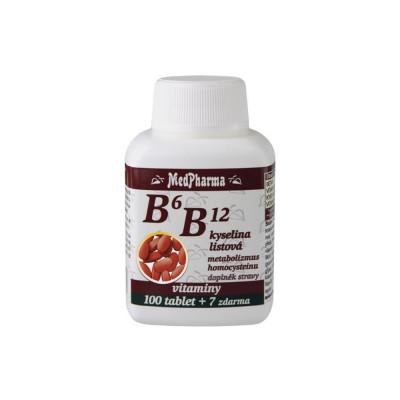 MedPharma B6 B12 + kyselina listová 107 tablet