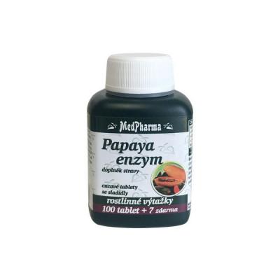 MedPharma Papaya enzym – cucavé pastilky bez cukru 107...