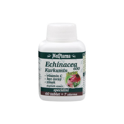 MedPharma Echinacea 600 Forte + kurkumin + vitamin C +...