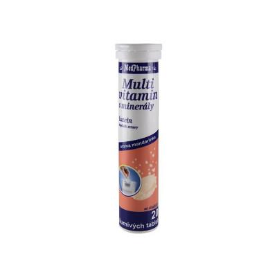 MedPharma Multivitamin s minerály + lutein, 20 šumivých...