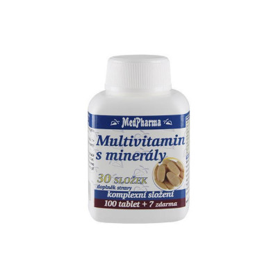 MedPharma Multivitamin s minerály, 30 složek 107 tablet