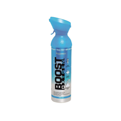 BOOST Oxygen Peppermint inhalační kyslík v plechovce 9 l
