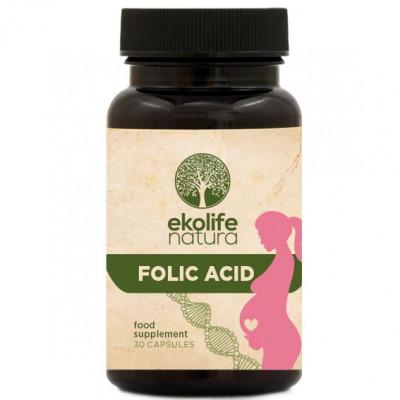 Folic Acid 30 kapslí (Kyselina listová)